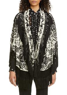 Dries Van Noten Faena Floral Embroidered Silk Tassel Jacket