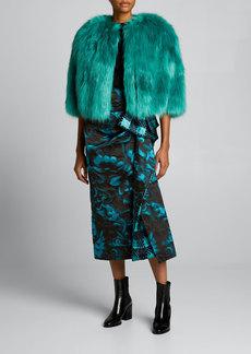 Dries Van Noten Faux-Fur Cropped Jacket