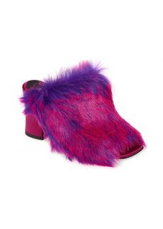 Dries Van Noten Faux Fur Mule (Women)