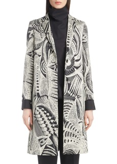 Dries Van Noten Feather Pattern Jacket