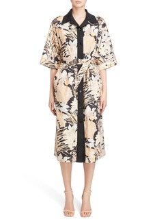 Dries Van Noten Floral Cotton Shirtdress