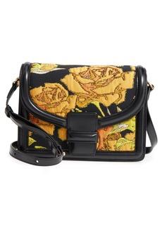 Dries Van Noten Floral Jacquard & Leather Crossbody Bag