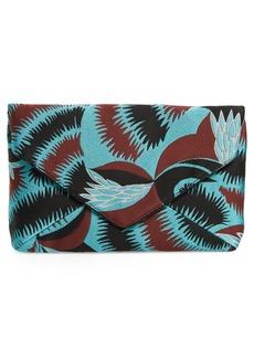 Dries Van Noten Floral Jacquard Envelope Clutch