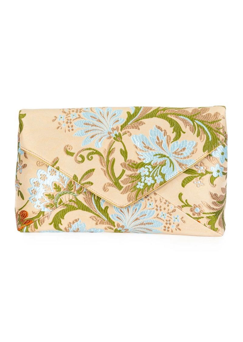 Dries Van Noten Floral Jacquard Envelope Clutch Bag