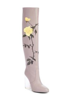 Dries Van Noten Floral Over the Knee Boot (Women)
