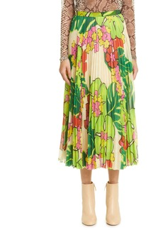 Dries Van Noten Floral Print Midi Skirt