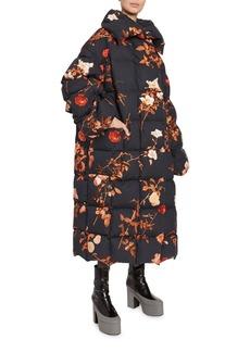 Dries Van Noten Floral-Print Quilted Oversized Coat