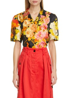 Dries Van Noten Floral Print Shirt