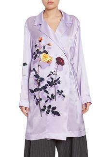 Dries Van Noten Floral Robe Coat