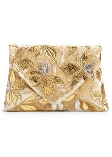 Dries Van Noten Floral Velvet Envelope Clutch