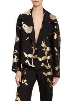 Dries Van Noten Foiled Floral Blazer Jacket