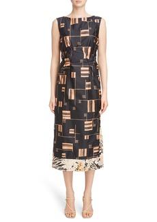 Dries Van Noten Geo Print Cotton Dress