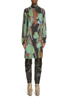 Dries Van Noten Hable Floral Print Tunic Top