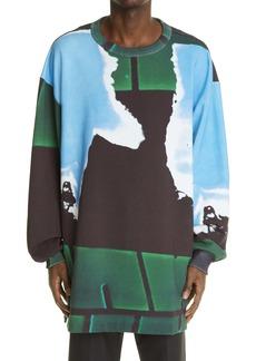 Dries Van Noten Hakko Print Cotton Sweatshirt