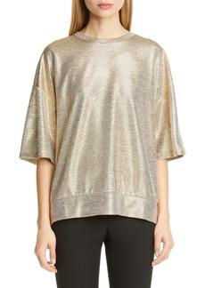Dries Van Noten Halovik Metallic Knit Top