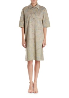 Dries Van Noten Hedie Polo-Style Floral Jersey Dress