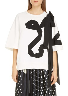 Dries Van Noten Helovi Ribbon Bow Cotton Top