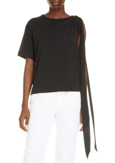 Dries Van Noten Horta Asymmetrical Cotton T-Shirt