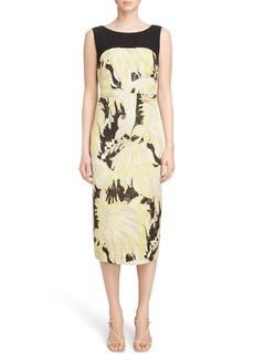 Dries Van Noten Illusion Paisley Brocade Dress