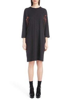 Dries Van Noten Inset Dolman Sleeve Jersey Dress