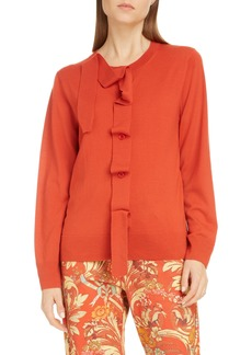Dries Van Noten Janae Merino Wool Cardigan