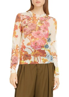 Dries Van Noten Jessy Floral Print Sweater