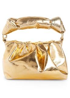 Dries Van Noten Knot Handle Metallic Leather Bag