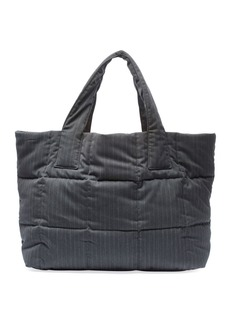 Dries Van Noten Large Pinstripe Quilted Tote Bag