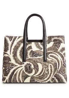 Dries Van Noten Large Print Canvas Tote