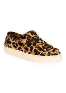 Dries Van Noten Leopard Calf Hair Sneaker Loafers