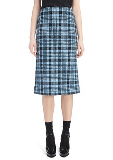 Dries Van Noten Long Plaid Pencil Skirt