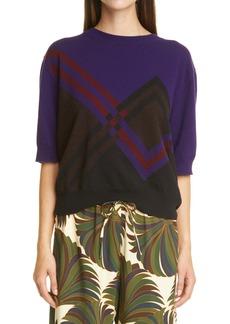 Dries Van Noten Maureen Colorblock Cashmere & Wool Sweater