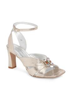Dries Van Noten Metallic Brooch Sandal (Women)