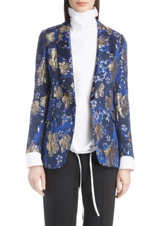 Dries Van Noten Metallic Floral Jacquard Blazer