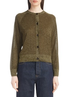 Dries Van Noten Metallic Knit Cardigan