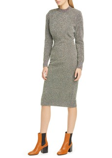 Dries Van Noten Metallic Long Sleeve Dress