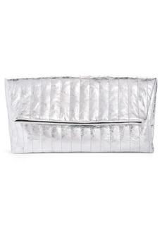 Dries Van Noten Metallic Quilted Leather Foldover Clutch