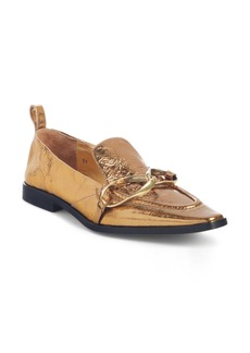 Dries Van Noten Metallic Square Toe Loafer (Women)