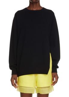 Dries Van Noten Nevermind Side Slit Cashmere Sweater