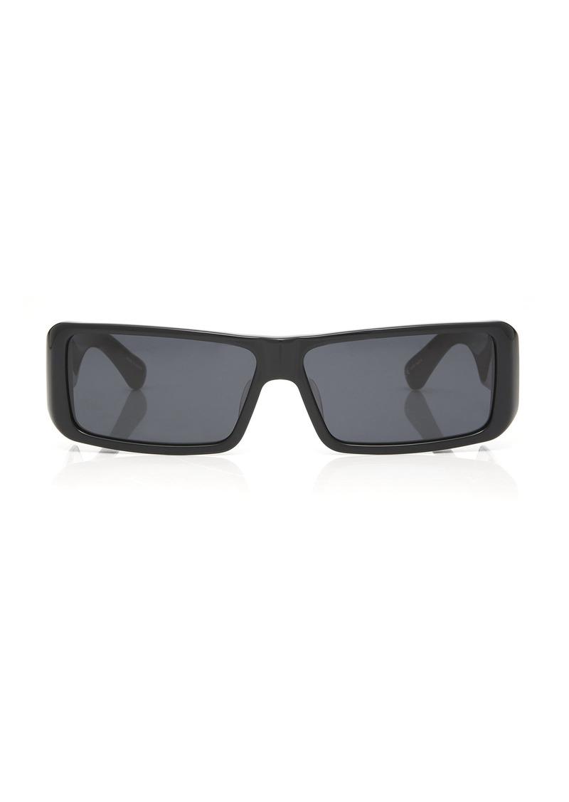 Dries Van Noten Oversized Square-Frame Acetate Sunglasses