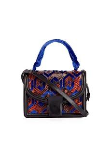 Dries Van Noten Patchwork Top-Handle Bag