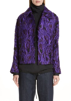 Dries Van Noten Peacock 3D Jacquard Jacket