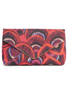 Dries Van Noten Peacock Jacquard Envelope Clutch