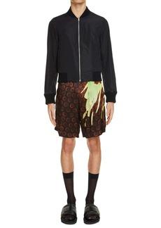 Dries Van Noten Piperi Print Drawstring Shorts
