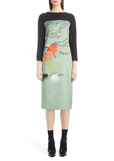 Dries Van Noten Placed Floral Print Dress
