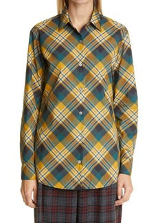 Dries Van Noten Plaid Cotton Shirt