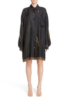 Dries Van Noten Print Silk Shirtdress