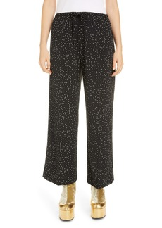 Dries Van Noten Puvis Dot Wide Leg Pants