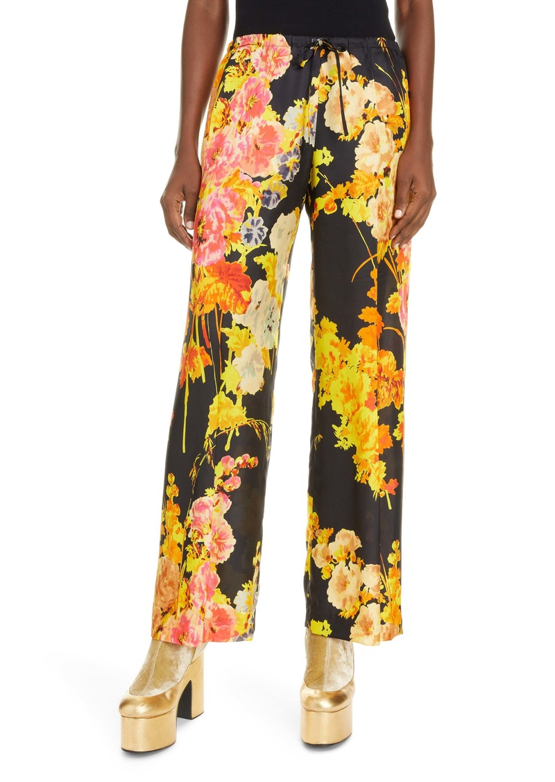 Dries Van Noten Puvis Floral Wide Leg Pants