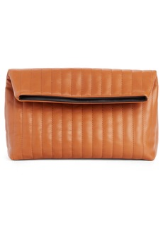 Dries Van Noten Quilted Leather Foldover Clutch
